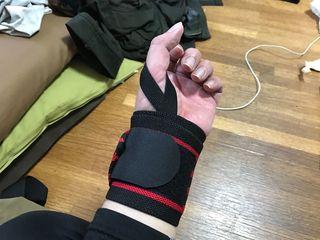 手首を守るリストラップ